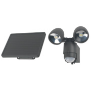 LED solar light with PIR sensor Solar LED Floodlight with PIR Granite Grey