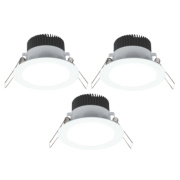 LAP Fixed Downlight Kit White 4.5W 240V Pack of 3