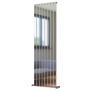 Oceanus Vertical Designer Radiator Chrome 1800 x 550mm 3638BTU