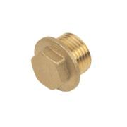 Brass Flanged Plug ½