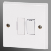 Volex 13A DP Switched FCU Moulded White