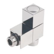Milano Cube Angled Radiator Valve 15mm Pair