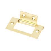 Flush Hinge Electro Brass 51 x 25mm Pack of 2