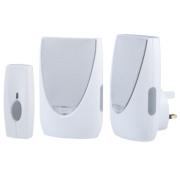Wireless 100m Portable & Plug-in Chime w/ Flashing Light & Li-Ion Bell Push