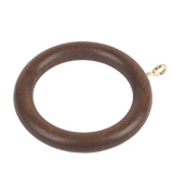 Curtain Rings Walnut Effect Pack of 20