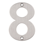 Eclipse Door Numeral No. 8 Satin Stainless Steel