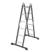 Professional Adjustable Ladder Single-Section 3 Rungs 3.7m