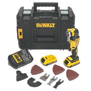 DeWalt DCS355D2-GB 18V 2Ah Li-Ion Cordless Multi-Tool XR Brushless Motor
