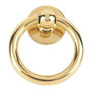 Plain Ring Door Knocker Polished Brass mm