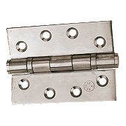 Grade 11 Ball Bearing Hinges Polished Stainless Steel 102x76mm Pk2