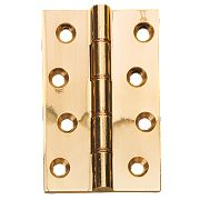 Double Phosphor Bronze Washered Hinges Polished Brass 102 x 67mm