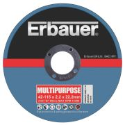 Erbauer Multipurpose Cutting Disc 115mm Pack of 5