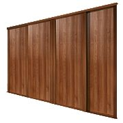 Spacepro 4 Door Panel Sliding Wardrobe Doors Walnut 2390 x 2260mm