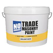 No Nonsense Trade Masonry Paint Brilliant White 10Ltr