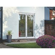 Bi-Fold Double-Glazed Patio Door White Aluminium 1794 x 2094mm