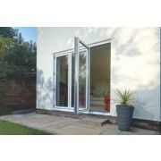 Bi-Fold Double-Glazed Patio Door White Aluminium 2394 x 2094mm
