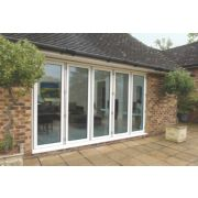 Bi-Fold Double-Glazed Patio Door White Aluminium 3939 x 2094mm