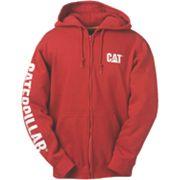 CAT CW10840 Zip Hooded Sweatshirt Chilli XL