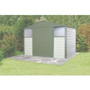 Trimetals Titan 108 Double Door Apex Shed Metal 10' 4 x 8' 4