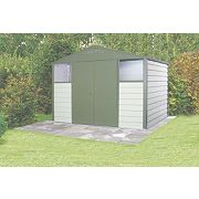 Trimetals Titan 108 Double Door Apex Shed Metal 10