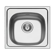 Pyramis Kitchen Sink Stainless Steel 1 Bowl 465 x 435mm