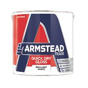 Armstead Trade Quick Drying Gloss Paint Brilliant White 2.5Ltr