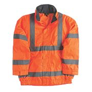 "Site Hi-Vis Lightweight Bomber Jacket Orange XX Large 66"" Chest"