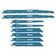 Erbauer Reciprocating Saw Blades 240mm 8 Piece Set