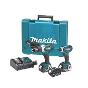 Makita DLX2005X1 18V 3.0Ah Li-Ion Twin Pack Combi Drill & Impact Driver