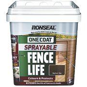 Ronseal Sprayable One Coat Fencelife Medium Oak 5Ltr