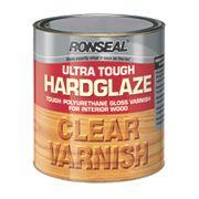 Ronseal Ultra Tough Hard Glaze Varnish Hard Glaze Clear 2.5Ltr