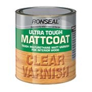 Ronseal Ultra Tough Matt Coat Varnish Matt Clear 2.5Ltr