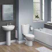Ashley Contemporary Single Ended Bathroom Suite with Acrylic Bath