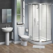 Ashley Contemporary Quadrant Shower Enclosure Bathroom Suite