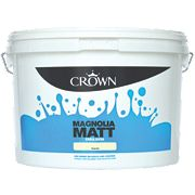 Crown Emulsion Paint Matt Magnolia 10Ltr