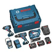 Bosch Professional 0615990FS0 18V 4.0Ah Li-Ion Cordless 4-Piece Kit