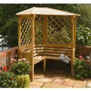 Rowlinson Balmoral Corner Arbour 1.58 x 1.58 x 2.1m Natural timber