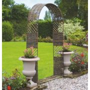 Rowlinson Willow Cottage Arch Natural willow 1.25 x 0.36 x 2.24m