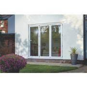 Bi-Fold Double-Glazed Patio Door White Aluminium 2394 x 2094mm