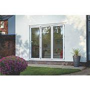 Unbranded Bi-Fold Double-Glazed Patio Door White Aluminium 2394 x 2094mm