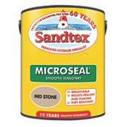 Sandtex Ultra Smooth Masonry Paint Mid Stone 5Ltr