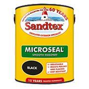 Sandtex Ultra Smooth Masonry Paint Black 5Ltr