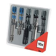 Bosch Multi-Purpose Jigsaw Blades Set Bayonet 10Pc