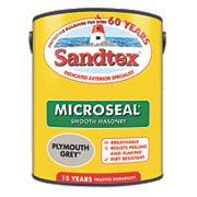 Sandtex Ultra Smooth Masonry Paint Plymouth Grey 5Ltr