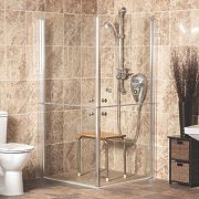 AKW Narvello Duo Split-Door Shower Enclosure 1000 x 1000 x 1900mm