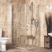 AKW Narvello Duo Split-Door Shower Enclosure 1000 x 1000 x 1900mm
