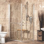 AKW Narvello Duo Split-Door Shower Enclosure 900 x 900 x 1900mm