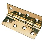 Washered Hinge Polished Brass 76 x 51mm Pack of 2