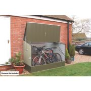 Trimetals Single-Door Bicycle Pent Store 6' 2 x 2' 6 x 1.3m
