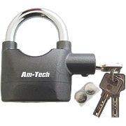 Am-Tech Heavy Duty Alarmed Padlock 90mm